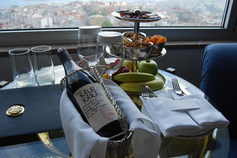 Ein Willkommensgeschenk vom Hotel-Manager im Marmara Taksim